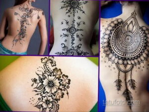 Рисунок тату хной для начинающих 28.11.2020 №212 -Henna tattoo drawing- tatufoto.com