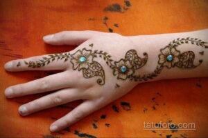 Рисунок тату хной для начинающих 28.11.2020 №215 -Henna tattoo drawing- tatufoto.com