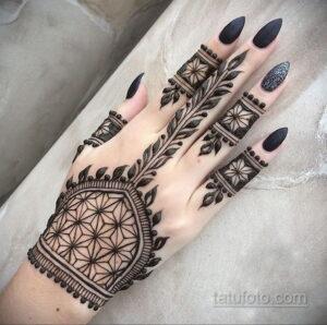Рисунок тату хной для начинающих 28.11.2020 №216 -Henna tattoo drawing- tatufoto.com