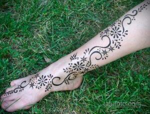Рисунок тату хной для начинающих 28.11.2020 №222 -Henna tattoo drawing- tatufoto.com