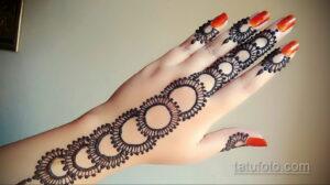 Рисунок тату хной для начинающих 28.11.2020 №230 -Henna tattoo drawing- tatufoto.com