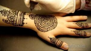 Рисунок тату хной для начинающих 28.11.2020 №232 -Henna tattoo drawing- tatufoto.com