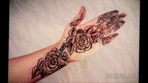 Рисунок тату хной для начинающих 28.11.2020 №246 -Henna tattoo drawing- tatufoto.com