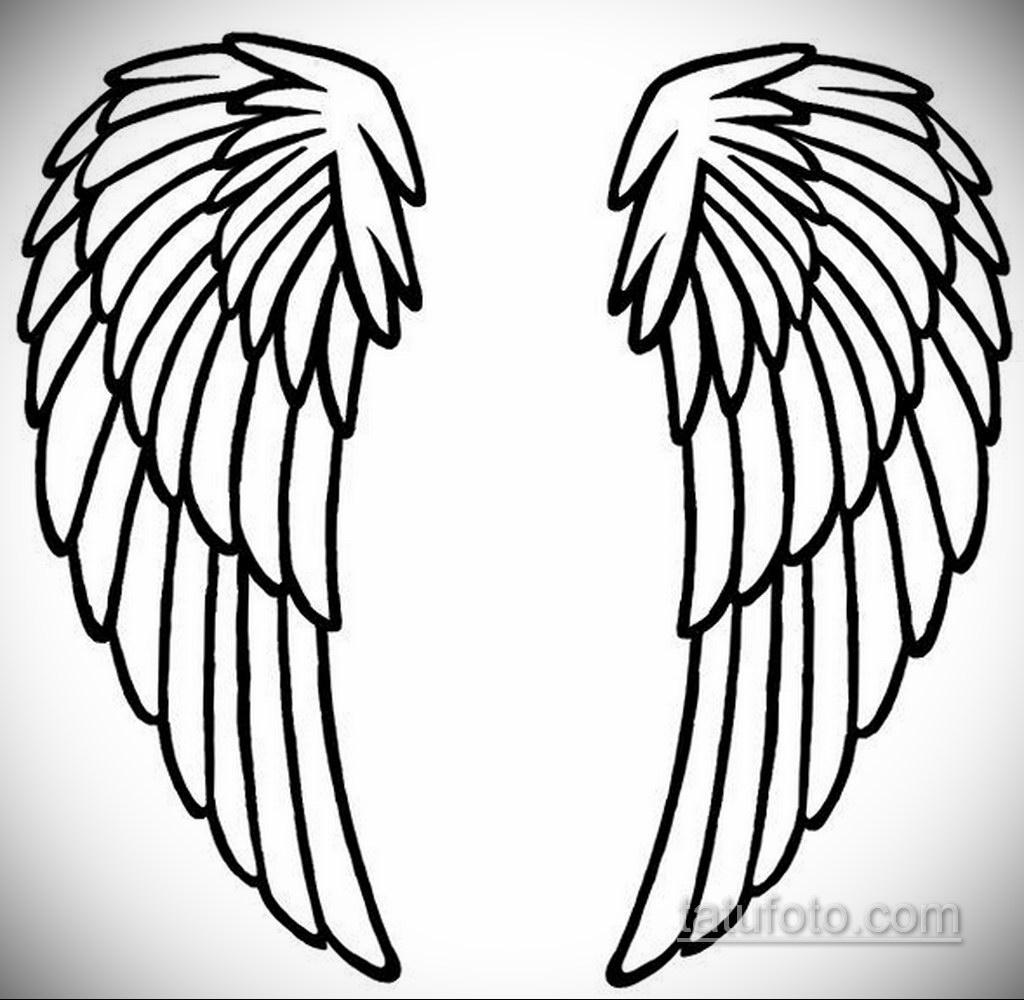 Фото ангельского рисунка тату 22.11.2020 №008 -Angelic tattoo- tatufoto.com