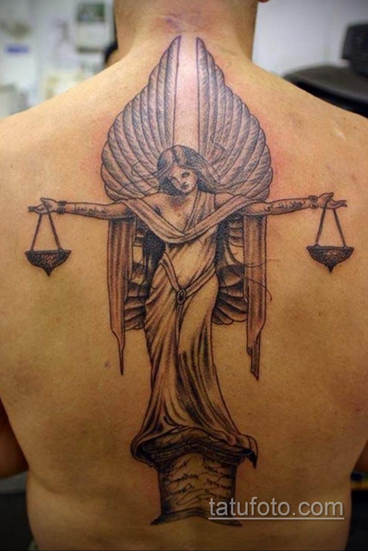 Фото ангельского рисунка тату 22.11.2020 №009 -Angelic tattoo- tatufoto.com