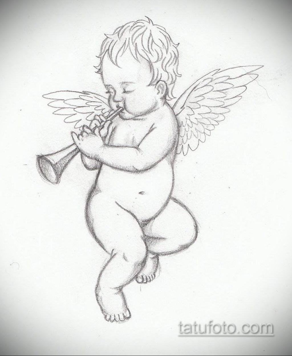 Фото ангельского рисунка тату 22.11.2020 №030 -Angelic tattoo- tatufoto.com