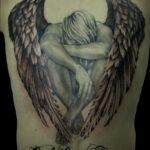 Фото ангельского рисунка тату 22.11.2020 №032 -Angelic tattoo- tatufoto.com