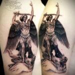 Фото ангельского рисунка тату 22.11.2020 №035 -Angelic tattoo- tatufoto.com