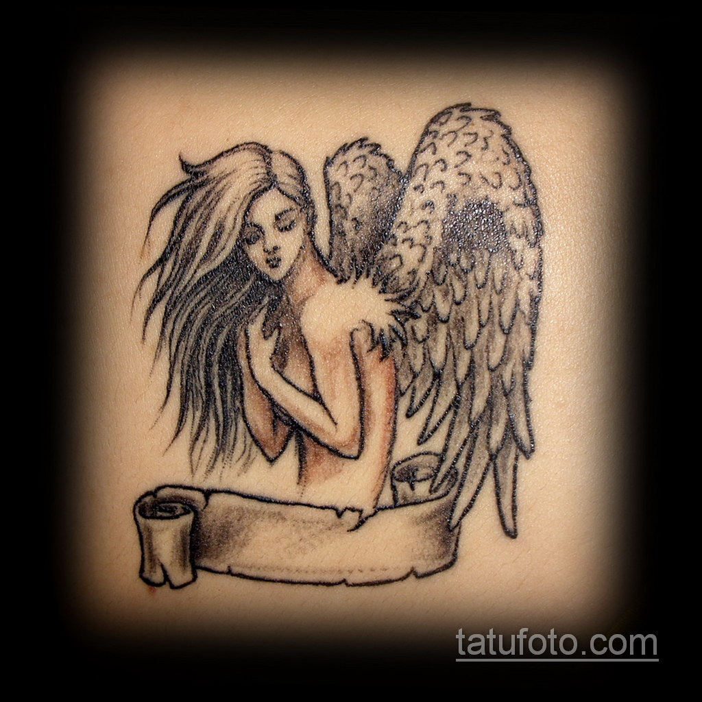 Фото ангельского рисунка тату 22.11.2020 №039 -Angelic tattoo- tatufoto.com