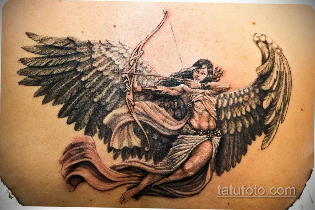 Фото ангельского рисунка тату 22.11.2020 №044 -Angelic tattoo- tatufoto.com