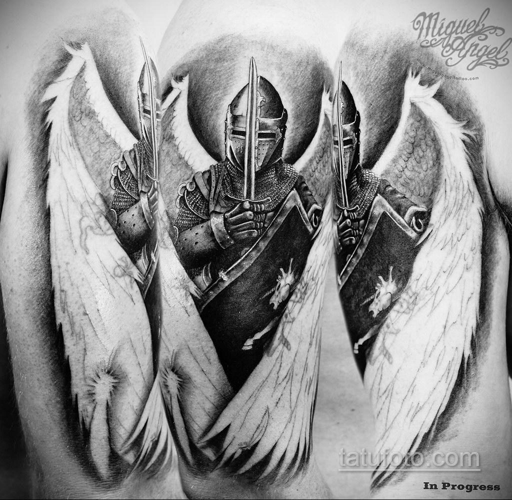 Фото ангельского рисунка тату 22.11.2020 №049 -Angelic tattoo- tatufoto.com