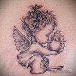 Фото ангельского рисунка тату 22.11.2020 №054 -Angelic tattoo- tatufoto.com