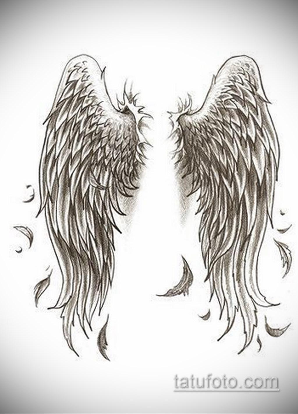 Фото ангельского рисунка тату 22.11.2020 №073 -Angelic tattoo- tatufoto.com