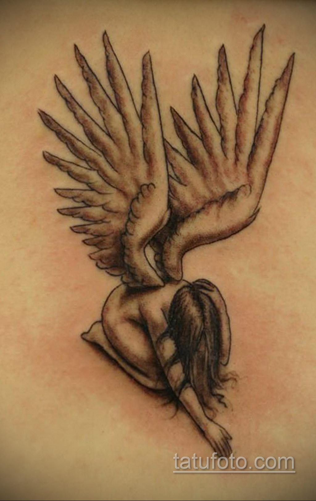 Фото ангельского рисунка тату 22.11.2020 №074 -Angelic tattoo- tatufoto.com
