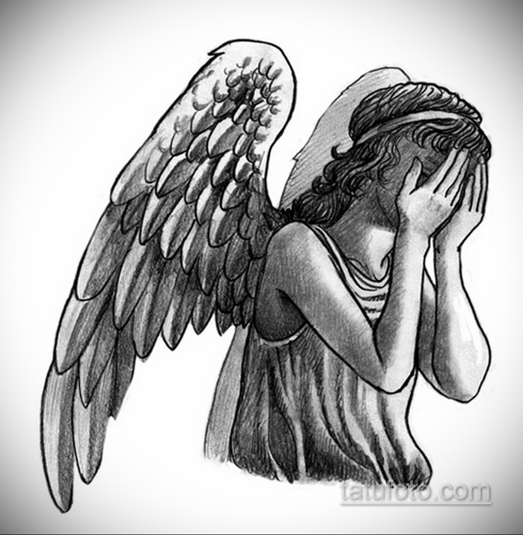 Фото ангельского рисунка тату 22.11.2020 №081 -Angelic tattoo- tatufoto.com