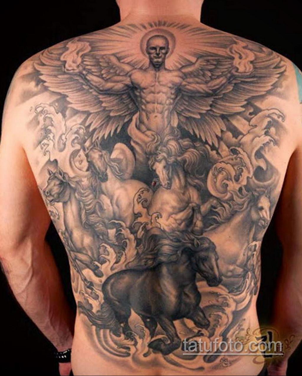 Фото ангельского рисунка тату 22.11.2020 №089 -Angelic tattoo- tatufoto.com