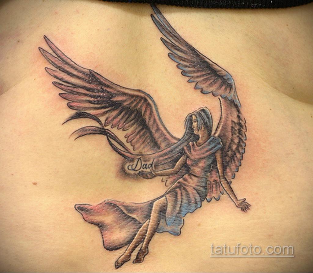 Фото ангельского рисунка тату 22.11.2020 №090 -Angelic tattoo- tatufoto.com