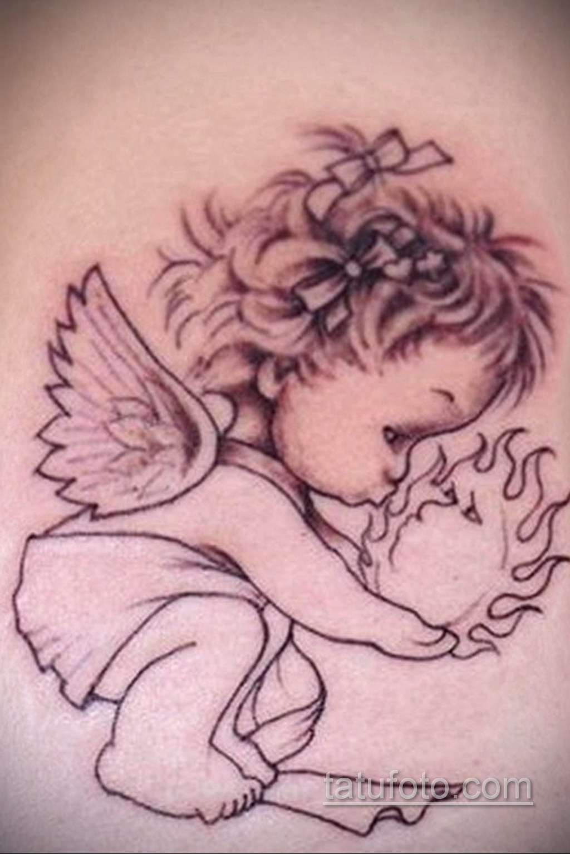 Фото ангельского рисунка тату 22.11.2020 №093 -Angelic tattoo- tatufoto.com