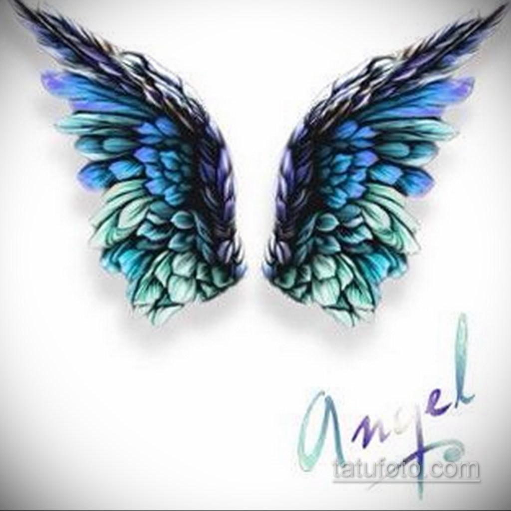 Фото ангельского рисунка тату 22.11.2020 №095 -Angelic tattoo- tatufoto.com