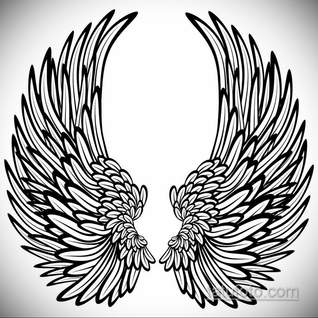 Фото ангельского рисунка тату 22.11.2020 №103 -Angelic tattoo- tatufoto.com