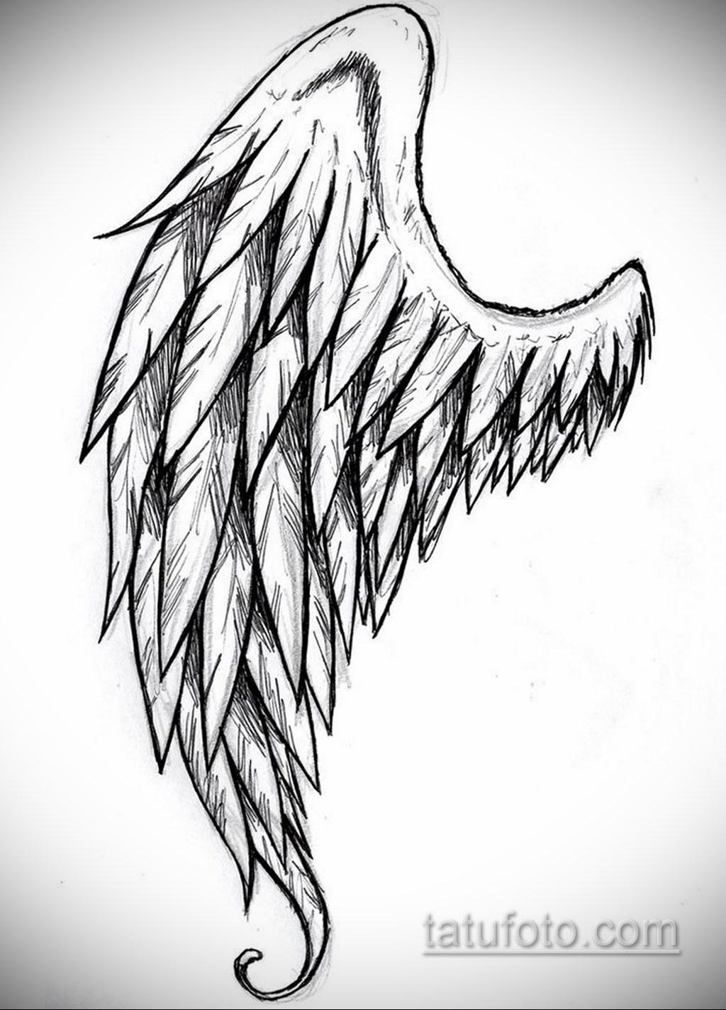 Фото ангельского рисунка тату 22.11.2020 №112 -Angelic tattoo- tatufoto.com