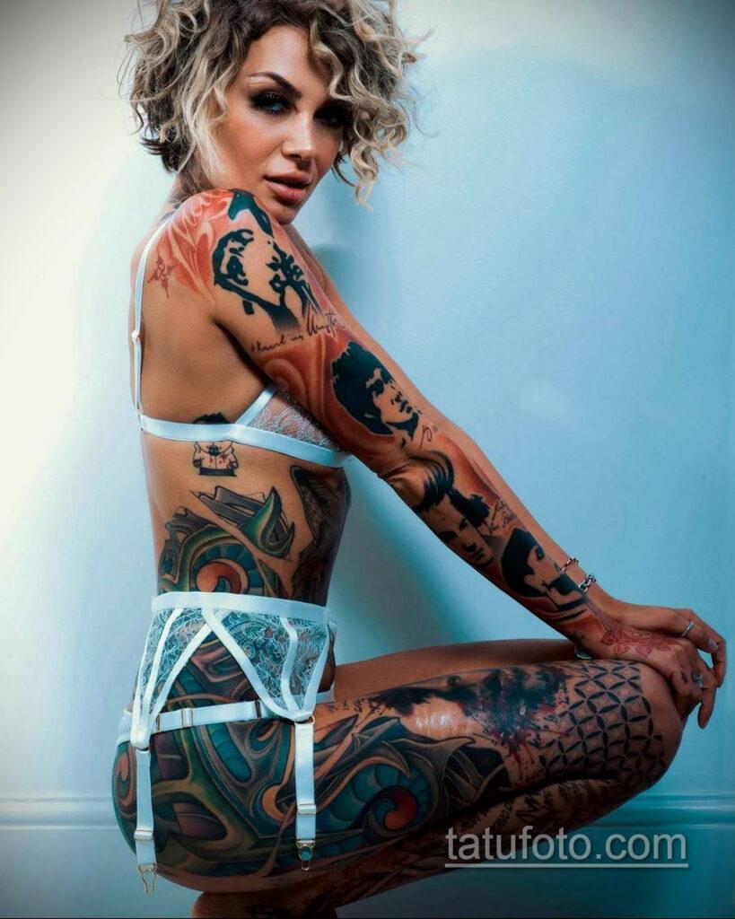 Фото женской интимной тату 16.11.2020 №006 -female intimate tattoo- tatufoto.com