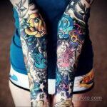 Фото женской тату на руке 16.11.2020 №047 -arm women tattoo- tatufoto.com
