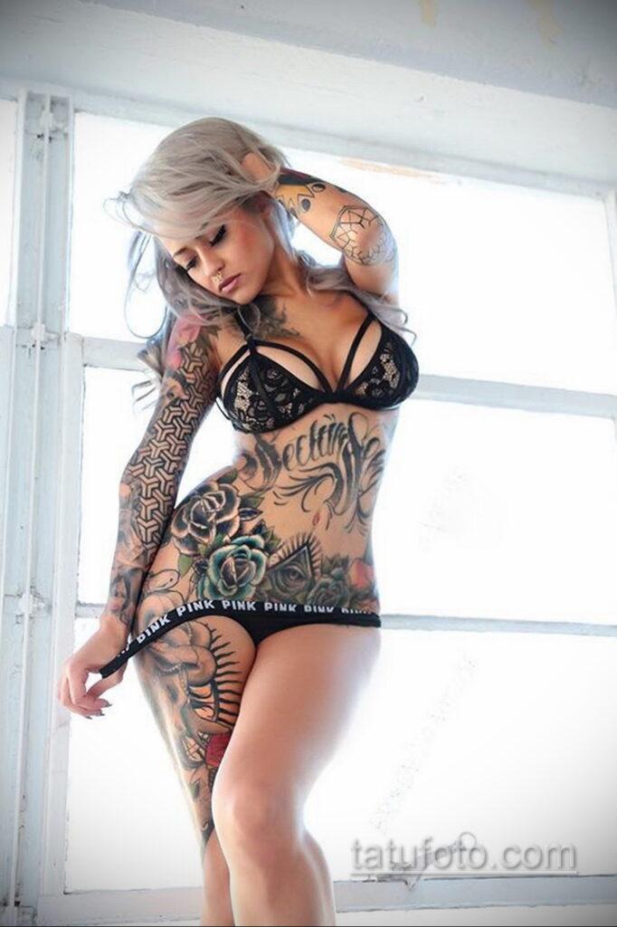 Фото женской тату 18.11.2020 №025 -beautiful girl tattoo- tatufoto.com