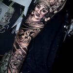 Фото интересного рисунка татуировки 08.11.2020 №046 -interesting tattoo- tatufoto.com
