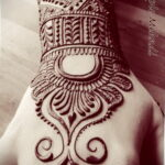 Фото интересного рисунка хной на теле 13.11.2020 №366 -henna tattoo- tatufoto.com