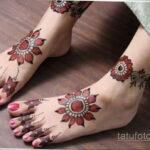 Фото интересного рисунка хной на теле 13.11.2020 №367 -henna tattoo- tatufoto.com