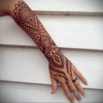 Фото интересного рисунка хной на теле 13.11.2020 №375 -henna tattoo- tatufoto.com