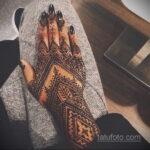 Фото интересного рисунка хной на теле 13.11.2020 №376 -henna tattoo- tatufoto.com