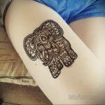 Фото интересного рисунка хной на теле 13.11.2020 №404 -henna tattoo- tatufoto.com