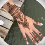 Фото интересного рисунка хной на теле 13.11.2020 №407 -henna tattoo- tatufoto.com