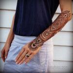 Фото интересного рисунка хной на теле 13.11.2020 №408 -henna tattoo- tatufoto.com