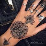 Фото интересного рисунка хной на теле 13.11.2020 №426 -henna tattoo- tatufoto.com