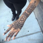 Фото интересного рисунка хной на теле 13.11.2020 №427 -henna tattoo- tatufoto.com