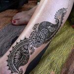 Фото интересного рисунка хной на теле 13.11.2020 №430 -henna tattoo- tatufoto.com