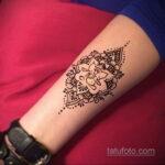 Фото интересного рисунка хной на теле 13.11.2020 №447 -henna tattoo- tatufoto.com
