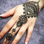 Фото интересного рисунка хной на теле 13.11.2020 №448 -henna tattoo- tatufoto.com