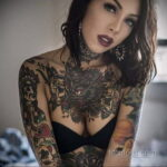 Фото крутого женского рисунка тату 15.11.2020 №030 -cool female tattoo- tatufoto.com