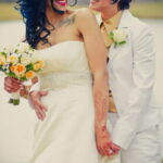 Фото невесты с татуировками 10.11.2020 №073 -bride with tattoo- tatufoto.com