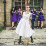Фото невесты с татуировками 10.11.2020 №074 -bride with tattoo- tatufoto.com