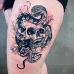 Фото необычного рисунка татуировки 11.11.2020 №118 -unusual tattoo patter- tatufoto.com