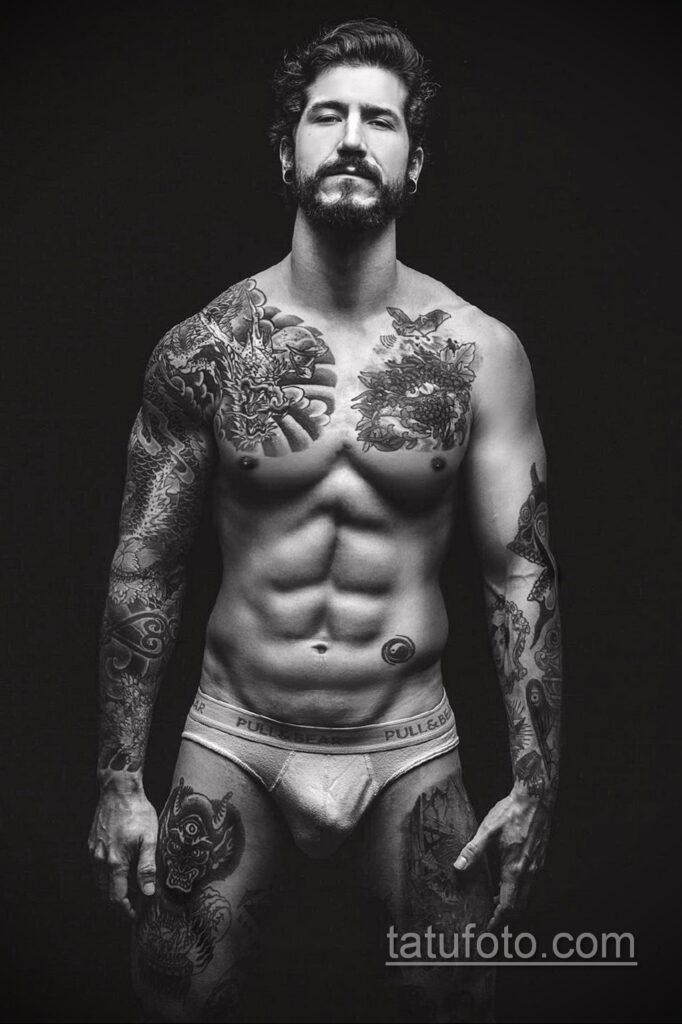 Фото пример рисунка мужской тату 17.11.2020 №049 -male tattoo- tatufoto.com