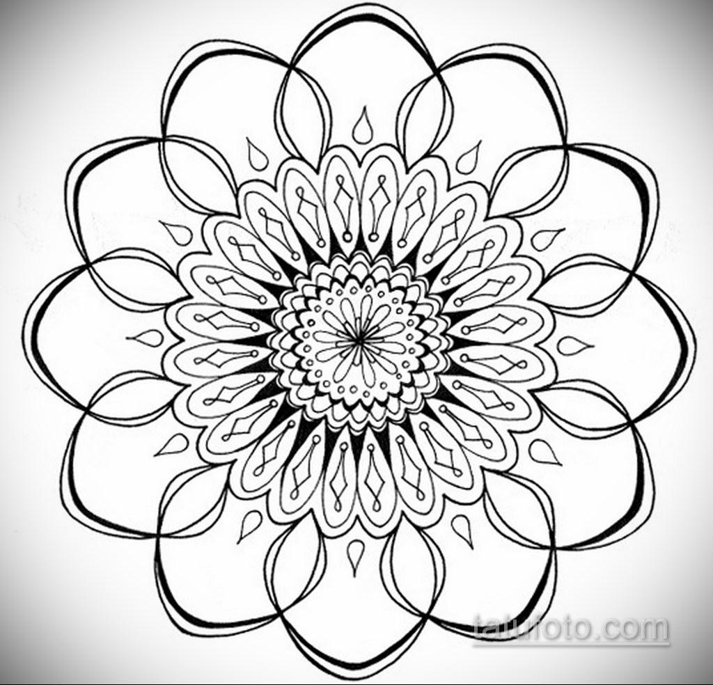 Фото рисунка тату мандала 22.11.2020 №003 -Mandala tattoo- tatufoto.com