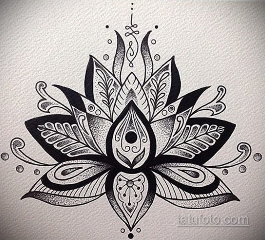 Фото рисунка тату мандала 22.11.2020 №018 -Mandala tattoo- tatufoto.com