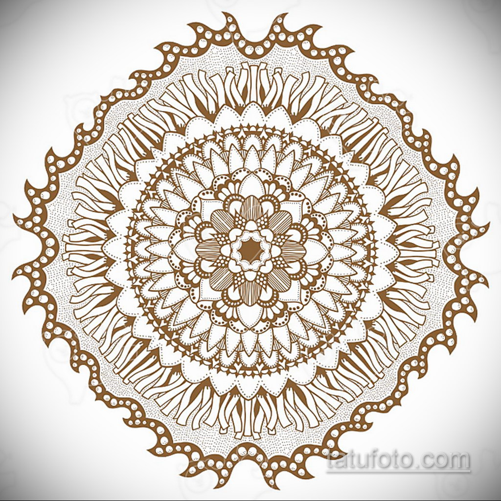 Фото рисунка тату мандала 22.11.2020 №030 -Mandala tattoo- tatufoto.com