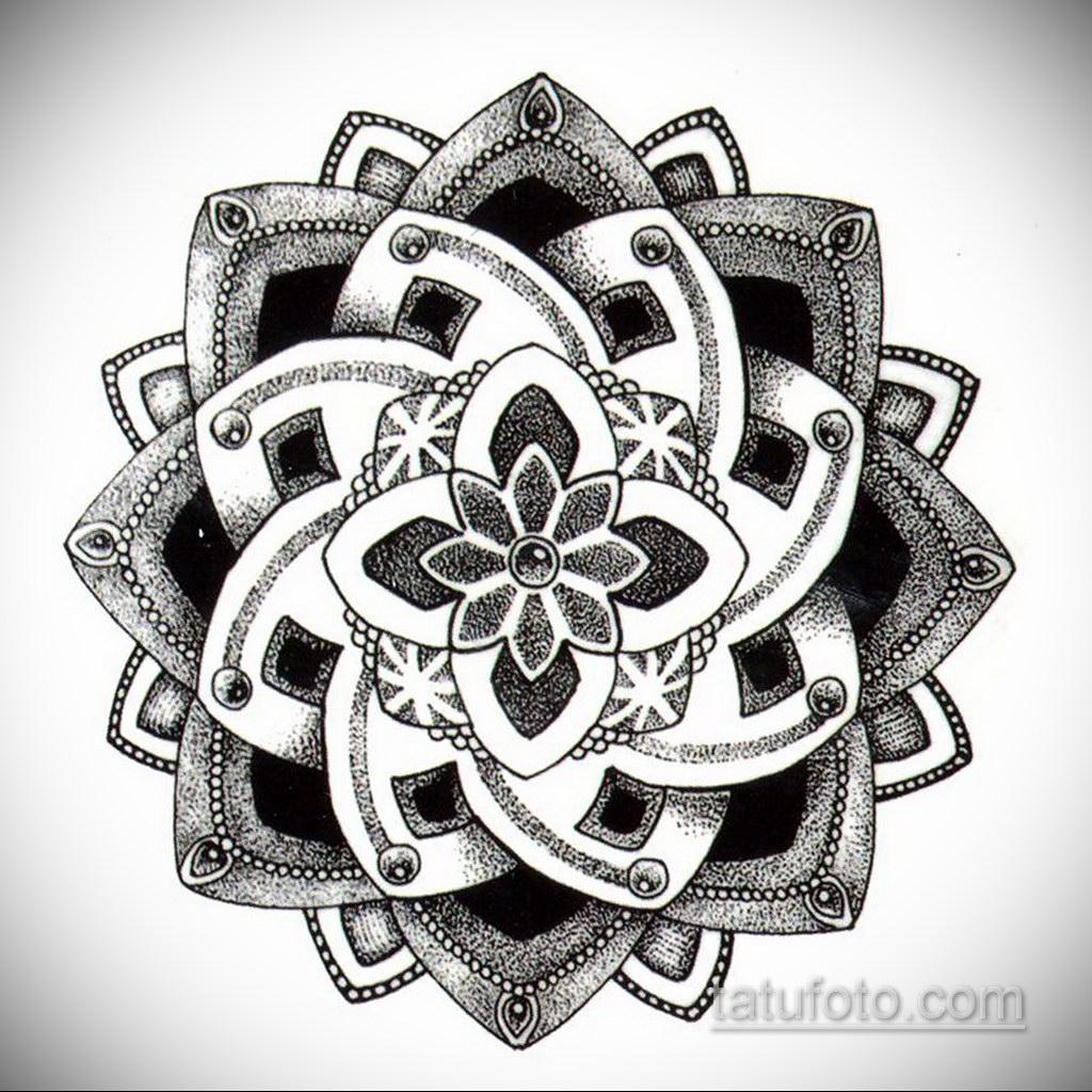 Фото рисунка тату мандала 22.11.2020 №041 -Mandala tattoo- tatufoto.com